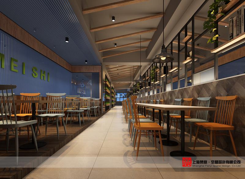 在郑州餐厅室内设计中建立体温品牌单第二绘制手术图图片